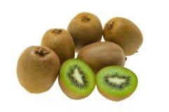 Kiwi on white background. Splite kiwi on the white background Royalty Free Stock Image