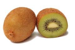 Kiwi on white. Slice Kiwi on white background Royalty Free Stock Images