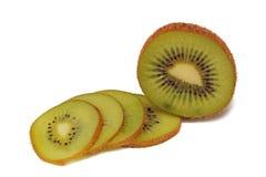 Kiwi on white. Slice Kiwi on white background Royalty Free Stock Image