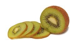 Kiwi on white. Slice Kiwi on white background Stock Photos