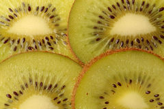 Kiwi on white. Slice Kiwi and seed background Stock Photos