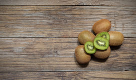 Kiwi on wood Stock Photo