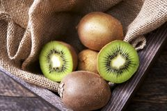 Kiwi in Wooden Crate Royalty Free Stock Photo