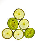 Kiwi y limón foto de archivo