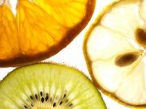 Kiwi y limón de la mandarina Foto de archivo libre de regalías