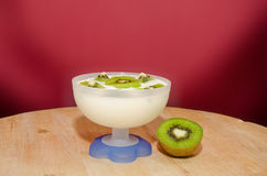 Kiwi yogurt Stock Photos