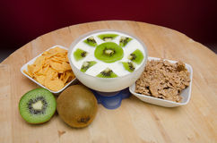 Kiwi yogurt Stock Image