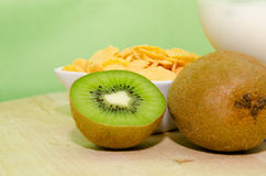 Kiwi yogurt Royalty Free Stock Image