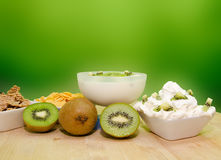 Kiwi yogurt Royalty Free Stock Photo