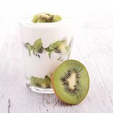 Kiwi and yogurt Stock Photo