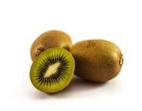 Kiwi zielona owoc odosobniony Zdjęcia Royalty Free