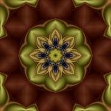 Kiwiblumen-Mandala Stockfoto