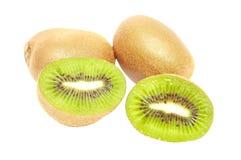 Kiwifrucht auf getrenntem weißem Hintergrund Lizenzfreies Stockbild