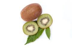 Kiwifrucht getrennt auf weißem Hintergrund lizenzfreie stockfotografie