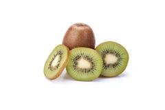 Kiwifrucht getrennt auf weißem Hintergrund stockfotos