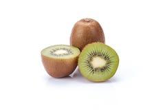 Kiwifrucht getrennt auf weißem Hintergrund stockfoto