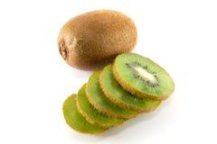 Kiwifruchtscheibe Stockfotos