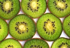 Kiwifruchtscheiben Lizenzfreies Stockbild
