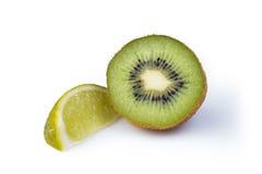Kiwifruit και ασβέστης Στοκ Εικόνες