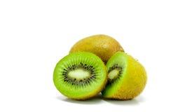 Kiwifruit. Kiwi and half the Kiwi on white background Stock Photography