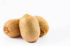 Kiwifruit Actinidia chinensis. On white background Stock Photography