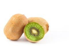 Kiwifruit Actinidia chinensis. On white background Stock Image