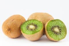 Kiwifruit Actinidia chinensis. On white background Royalty Free Stock Photography