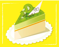 Kiwifruit cake. Illustration Stock Photo