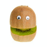 Kiwifruit Character. Funny fruit  character kiwi on white background Stock Photo