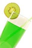 Kiwifruit cocktail. On  white background Stock Images