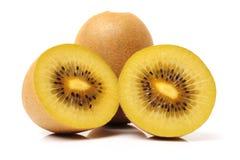 Kiwifruit in de helft wordt gesneden die Stock Foto