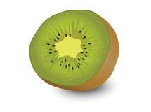 Kiwifruit, de witte achtergrond van het kiwifruit Stock Foto