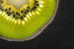 Kiwifruit detail with seeds Stock Image