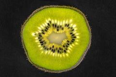 Kiwifruit detail with seeds Stock Photo