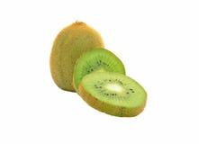 Kiwifruit drei auf weißem Hintergrund lizenzfreies stockfoto
