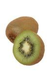 Kiwifruit e una metà fotografia stock libera da diritti