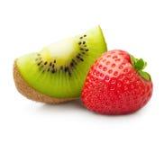 Kiwifruit en aardbei Royalty-vrije Stock Foto's