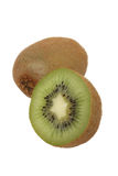 Kiwifruit en de helft Royalty-vrije Stock Foto