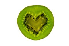 Kiwifruit Heart Stock Image