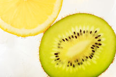 Kiwifruit and lemon Royalty Free Stock Images