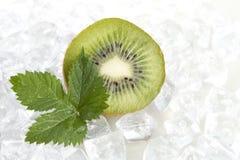 Kiwifruit n ice Stock Photo