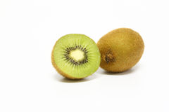 Kiwifruit no fundo branco Imagens de Stock