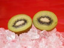 Kiwifruit op ijs Royalty-vrije Stock Foto