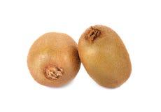 Kiwifruit op witte achtergrond, macro wordt geïsoleerd die Stock Fotografie