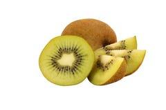 Kiwifruit op witte achtergrond wordt geïsoleerd die Stock Foto's