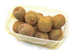 Kiwifruit in plastic kom Royalty-vrije Stock Foto's