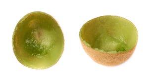 Kiwifruit skóry skorupa odizolowywająca Obrazy Royalty Free
