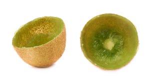 Kiwifruit skóry skorupa odizolowywająca Fotografia Stock
