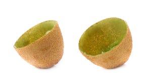 Kiwifruit skóry skorupa odizolowywająca Zdjęcia Stock