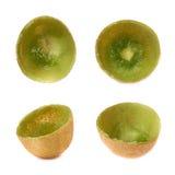 Kiwifruit skóry skorupa odizolowywająca Fotografia Royalty Free